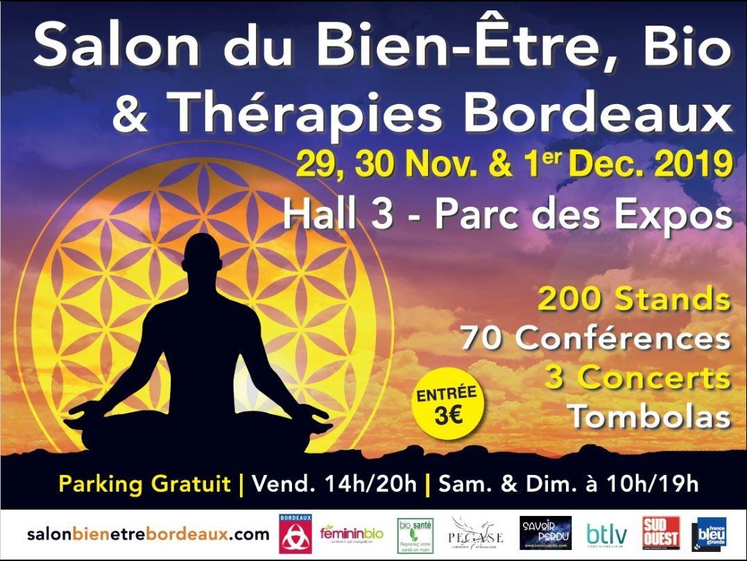 Salon Bien être Bio & Thérapies BORDEAUX du 29 novembre au 1 décembre 2019